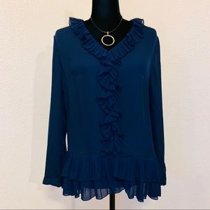 Banana Republic ruffle blouse - sz S